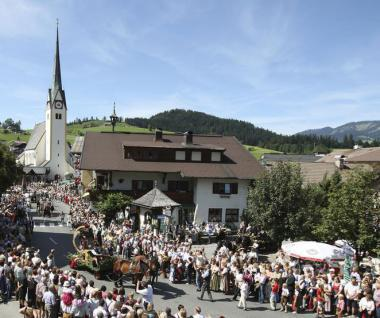 Rakouské městečko v době slavnosti HeuART