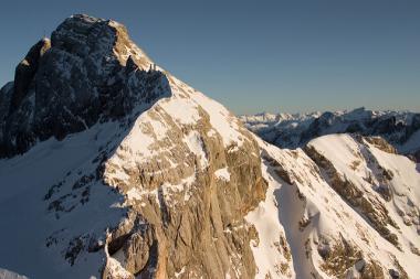 Pohled na Dachstein v zimě